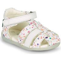 鞋子 女孩 凉鞋 Kickers BIGFLO-2 白色