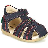 鞋子 男孩 凉鞋 Kickers BIGBAZAR-2 米色 / 黄色 / 海蓝色