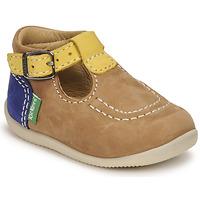 鞋子 男孩 凉鞋 Kickers BONBEK-2 米色 / 黄色 / 海蓝色