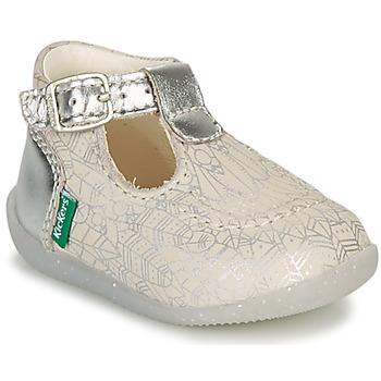 鞋子 女孩 平底鞋 Kickers BONBEK-2 银灰色
