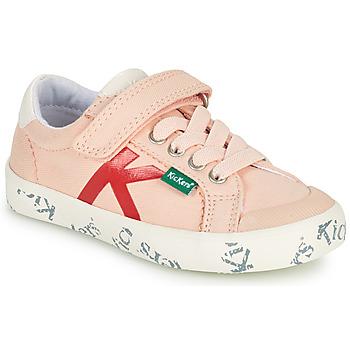 鞋子 女孩 球鞋基本款 Kickers GODY 玫瑰色