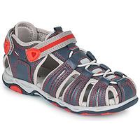 鞋子 男孩 凉鞋 Kickers KAWA 海蓝色 / 红色