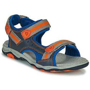 鞋子 男孩 凉鞋 Kickers KIWI 蓝色 / 橙色