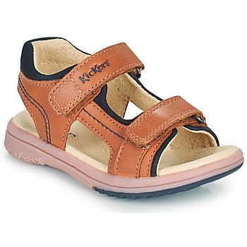 鞋子 男孩 凉鞋 Kickers PLATINO 驼色