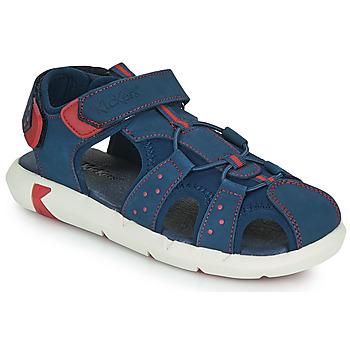 鞋子 男孩 凉鞋 Kickers JUMANGE 海蓝色