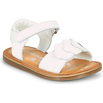 鞋子 女孩 凉鞋 Kickers DYASTAR 白色