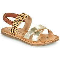 鞋子 女孩 凉鞋 Kickers DYACROSS 金色 / Leopard