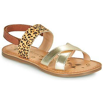 鞋子 女孩 凉鞋 Kickers DYACROSS 金色