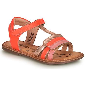 鞋子 女孩 凉鞋 Kickers DIAMANTO 玫瑰色