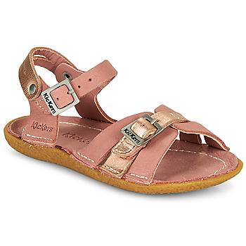 鞋子 女孩 凉鞋 Kickers PEPETE 玫瑰色