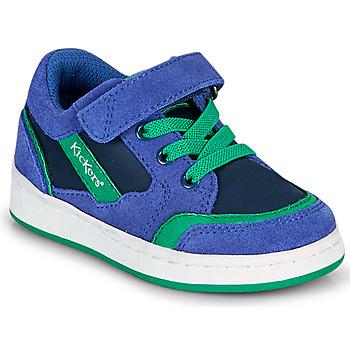 鞋子 男孩 球鞋基本款 Kickers BISCKUIT 蓝色