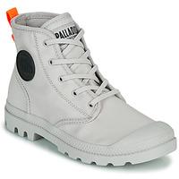 鞋子 女士 短筒靴 Palladium 帕拉丁 PAMPA HI TWILL 灰色
