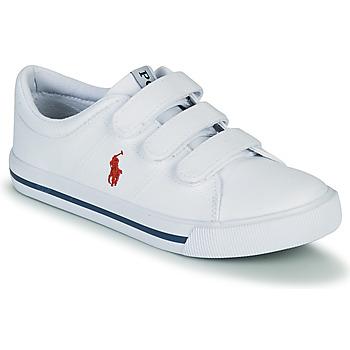 鞋子 儿童 球鞋基本款 Polo Ralph Lauren ELMWOOD EZ 白色