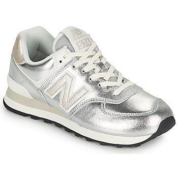 鞋子 女士 球鞋基本款 New Balance新百伦 574 银灰色