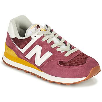 鞋子 女士 球鞋基本款 New Balance新百伦 574 波尔多红