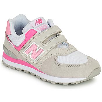 鞋子 女孩 球鞋基本款 New Balance新百伦 574 灰色 / 玫瑰色