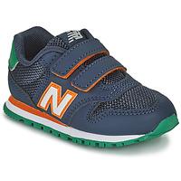 鞋子 男孩 球鞋基本款 New Balance新百伦 500 蓝色 / 橙色