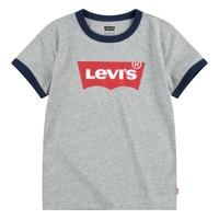 衣服 男孩 短袖体恤 Levi's 李维斯 BATWING RINGER TEE 灰色