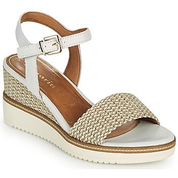 鞋子 女士 凉鞋 Tamaris ALIS 白色 / 米色