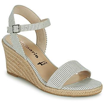 鞋子 女士 凉鞋 Tamaris LIVIAN 海蓝色 / 白色