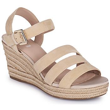 鞋子 女士 凉鞋 Geox 健乐士 D SOLEIL C 米色