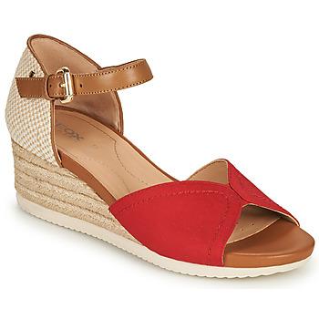 鞋子 女士 凉鞋 Geox 健乐士 D ISCHIA CORDA D 红色 / 棕色