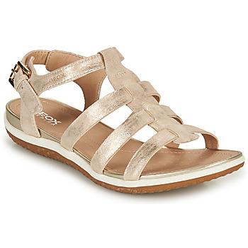 鞋子 女士 凉鞋 Geox 健乐士 D SANDAL VEGA A 金色