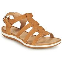 鞋子 女士 凉鞋 Geox 健乐士 D SANDAL VEGA A 棕色
