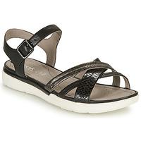 鞋子 女士 凉鞋 Geox 健乐士 D SANDAL HIVER A 黑色 / 银灰色