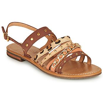鞋子 女士 凉鞋 Geox 健乐士 D SOZY S I 棕色 / 米色