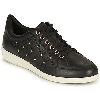 鞋子 女士 球鞋基本款 Geox 健乐士 D MYRIA H 黑色