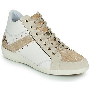 鞋子 女士 高帮鞋 Geox 健乐士 D MYRIA G 白色 / 米色