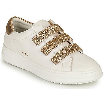 鞋子 女士 球鞋基本款 Geox 健乐士 D PONTOISE C 白色 / 金色
