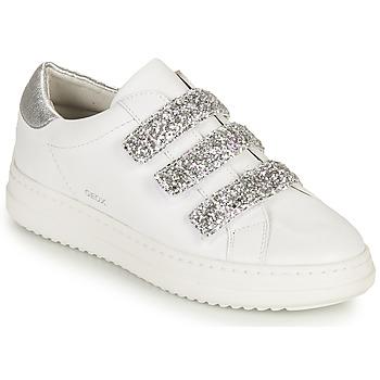鞋子 女士 球鞋基本款 Geox 健乐士 D PONTOISE C 白色 / 银灰色