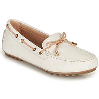 鞋子 女士 皮便鞋 Geox 健乐士 D LEELYAN C 白色 / 米色