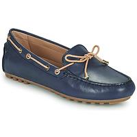 鞋子 女士 皮便鞋 Geox 健乐士 D LEELYAN C 蓝色 / 米色