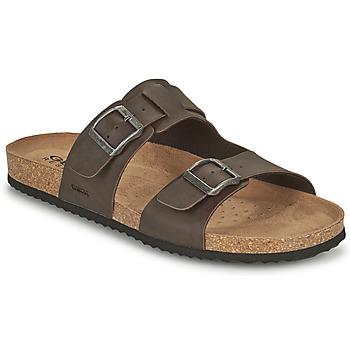 鞋子 男士 休闲凉拖/沙滩鞋 Geox 健乐士 U SANDAL GHITA B 棕色