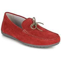 鞋子 男士 皮便鞋 Geox 健乐士 U TIVOLI A 红色