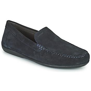鞋子 男士 皮便鞋 Geox 健乐士 U ASCANIO A 海蓝色