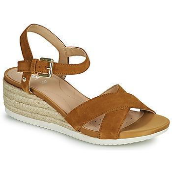 鞋子 女士 凉鞋 Geox 健乐士 D ISCHIA CORDA C 驼色