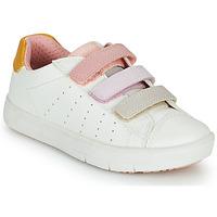 鞋子 女孩 球鞋基本款 Geox 健乐士 SILENEX GIRL 白色 / 玫瑰色 / 米色