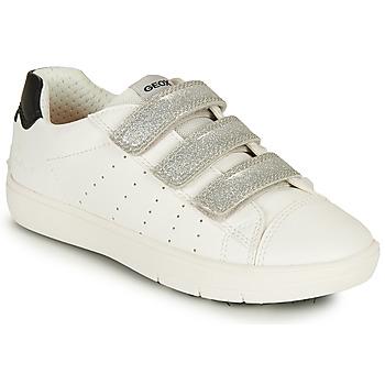 鞋子 女孩 球鞋基本款 Geox 健乐士 SILENEX GIRL 白色 / 银灰色 / 黑色