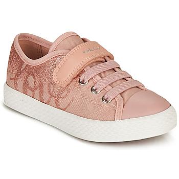 鞋子 女孩 球鞋基本款 Geox 健乐士 JR CIAK GIRL 玫瑰色