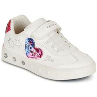 鞋子 女孩 球鞋基本款 Geox 健乐士 SKYLIN GIRL 白色 / 黑色 / 玫瑰色