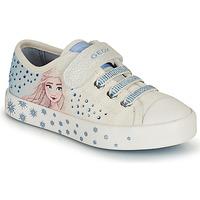 鞋子 女孩 球鞋基本款 Geox 健乐士 JR CIAK GIRL 白色 / 蓝色