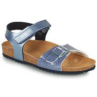 鞋子 女孩 凉鞋 Geox 健乐士 ADRIEL GIRL 蓝色