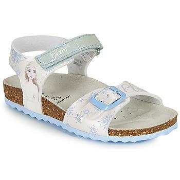 鞋子 女孩 凉鞋 Geox 健乐士 ADRIEL GIRL 白色 / 蓝色