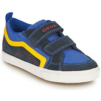 鞋子 男孩 球鞋基本款 Geox 健乐士 ALONISSO BOY 海蓝色 / 黄色