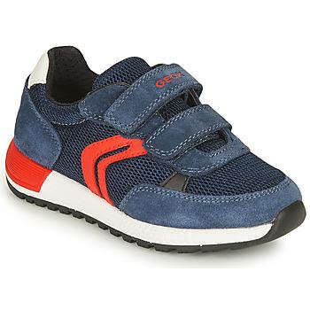 鞋子 男孩 球鞋基本款 Geox 健乐士 ALBEN BOY 海蓝色 / 红色