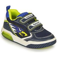 鞋子 男孩 球鞋基本款 Geox 健乐士 INEK BOY 海蓝色 / 黄色